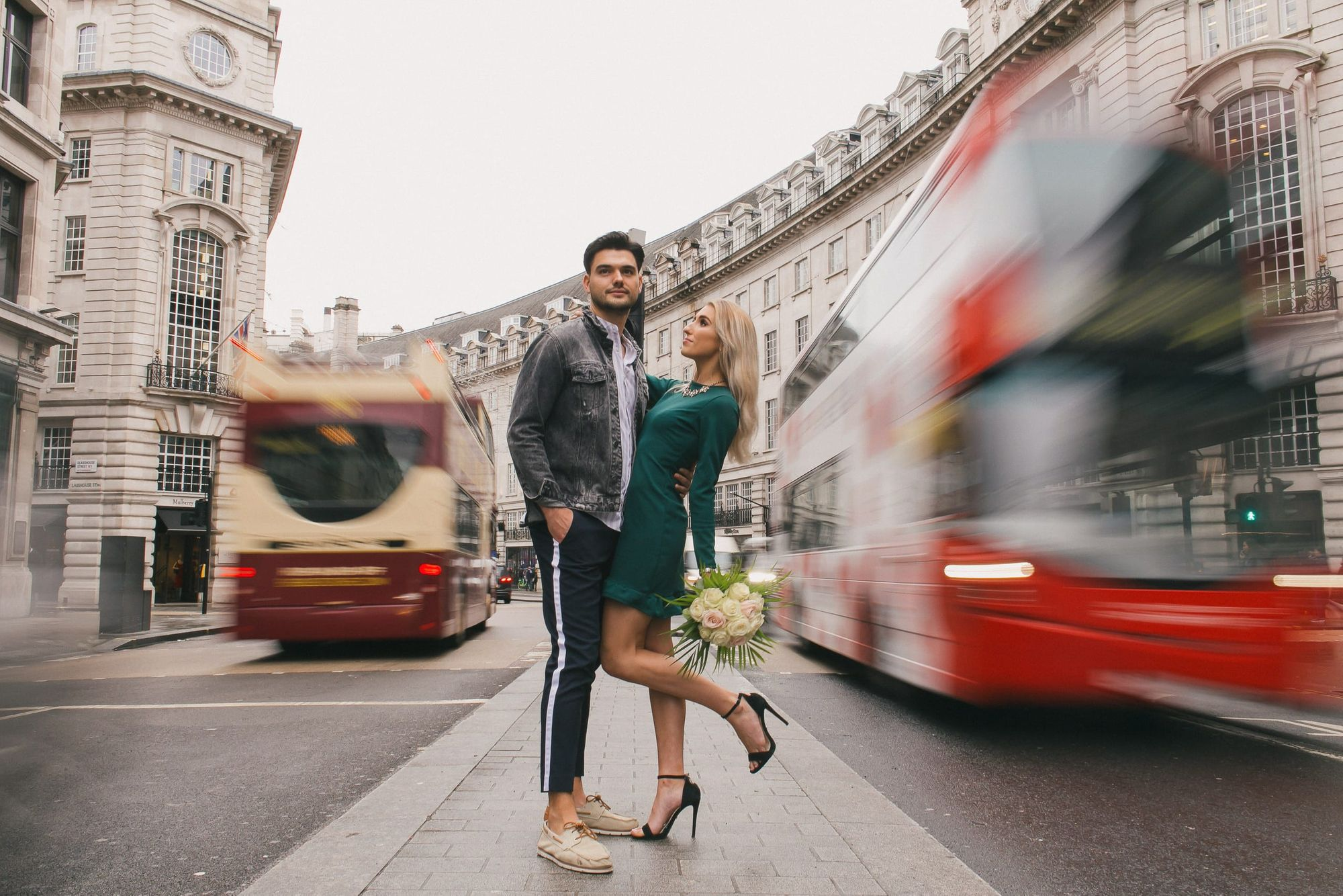 Couple photoshoot in Mayfair